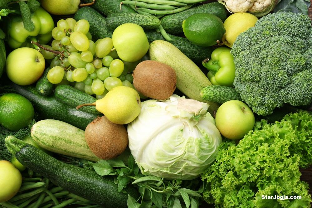 apel sayuran hijau