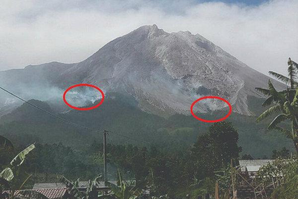 Gunung Sumbing Terbakar