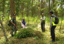 Babinsa - Bhabinkamtibmas Patroli Daerah Rawan Kebakaran