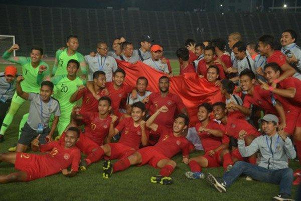 laga Indonesia vs Singapura