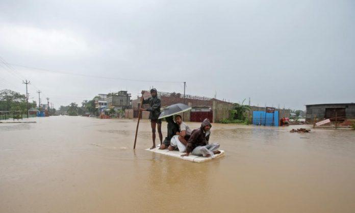 Banjir di India Nepal
