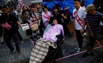 dua kandidat disabilitas jepang