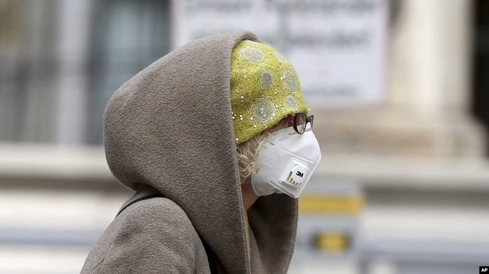 memakai masker
