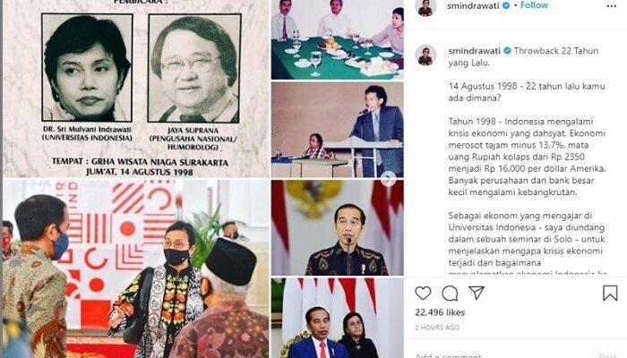 Sri Mulyani dengan Jokowi