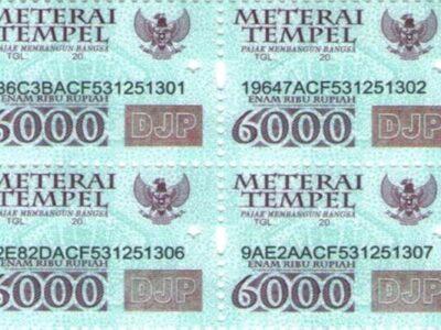 tarif materai