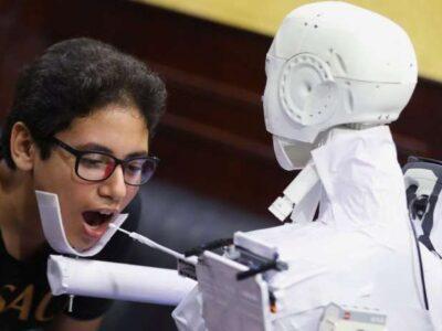 robot tes virus corona