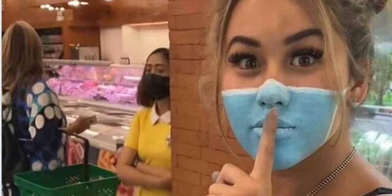 masker pada wajah